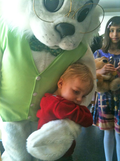 Extended Hug for the Easter Bunny