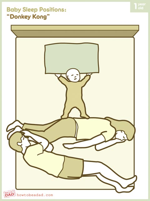 Baby Sleep Positions: Donkey Kong