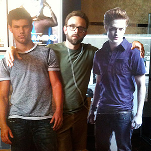 Andy Herald Twilight cardboard cutouts Jacob and Edward