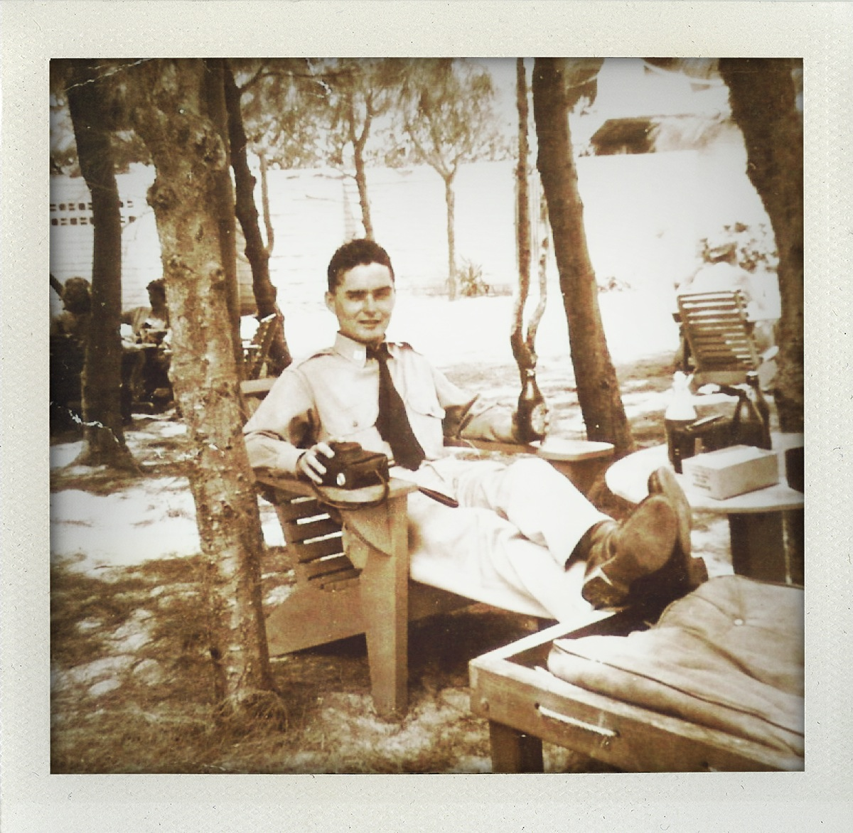 My grandfather in the South Pacific.