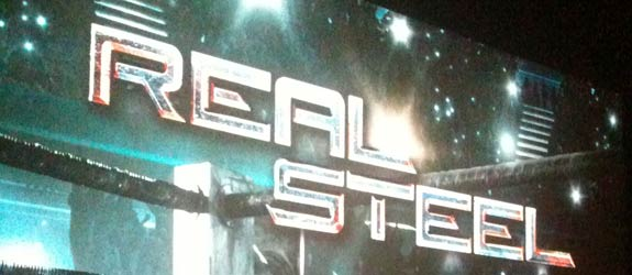Snuck in Real Steel premiere