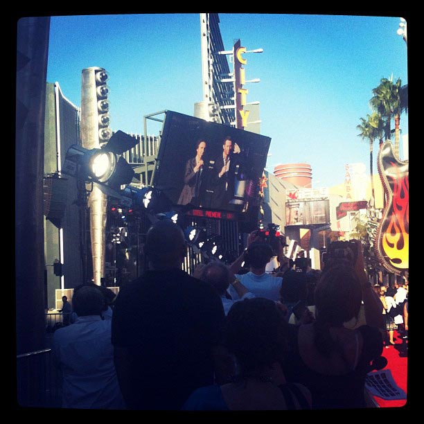 Red carpet premiere for Real Steel at Universal Studios