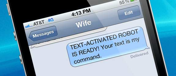 Text Activated Robot Husband