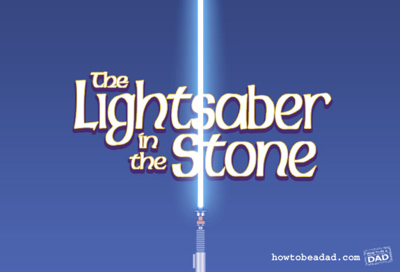The Lightsaber and the Stone Sword and the Stone Movie Title