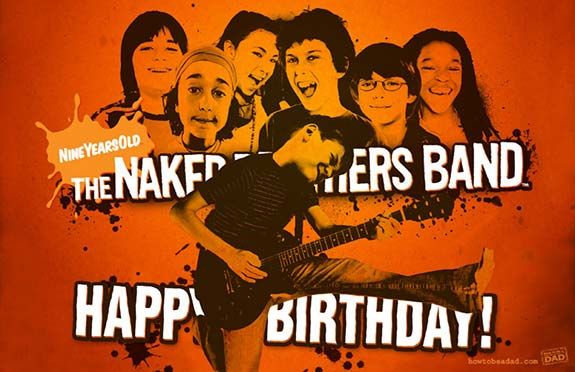 The Naked Brothers Band Birthday Card for Cody