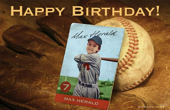 My son Max Herald as Ted Williams in a vintage baseball card