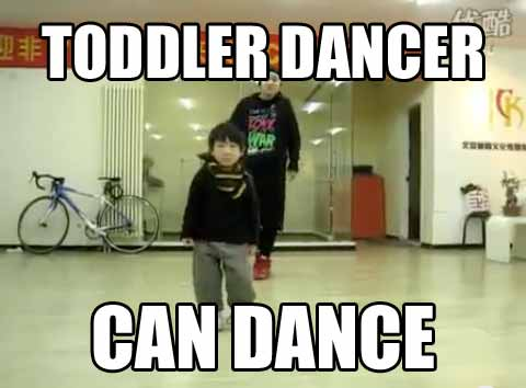 This toddler can dance. Just watch the video.