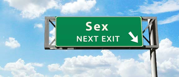 Getting an Evite for Sex exit sign