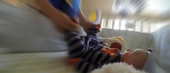 Time flies time-lapse baby video