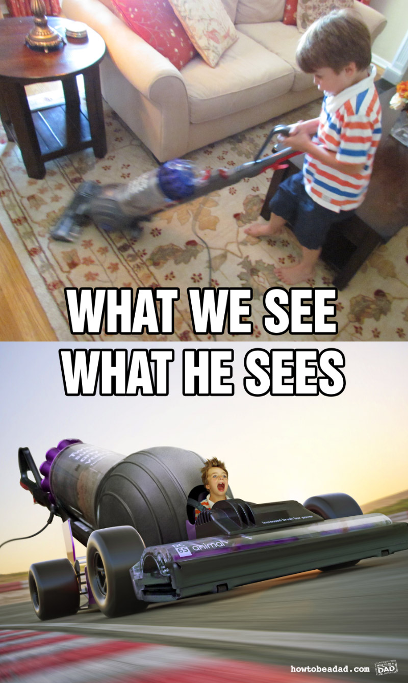 What we see versus what he sees