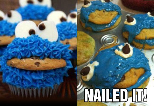 nailed it fail cookie monster muffins