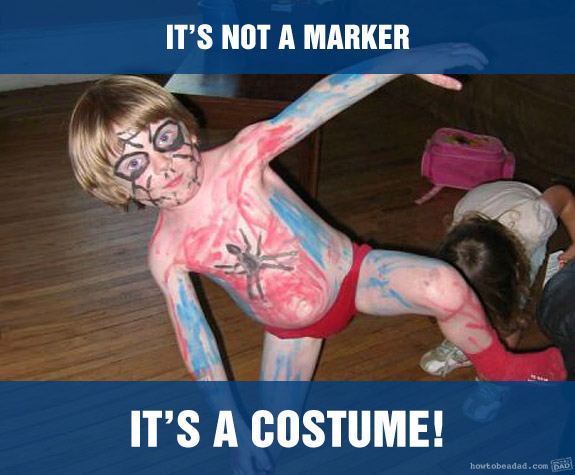 Funny Kid Mess-uses Marker Costume