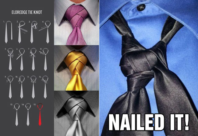 nailed it fail tie tying