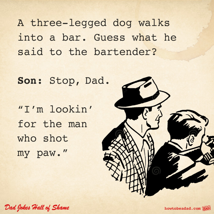 Image of: Jokes Dadjokesshotpaw Youtube Howtobeadadcom Dad Jokes Hall Of Shame Part