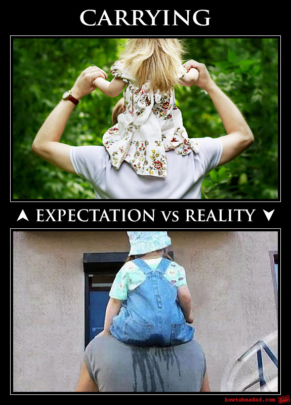 Expectation vs Reality baby carrying