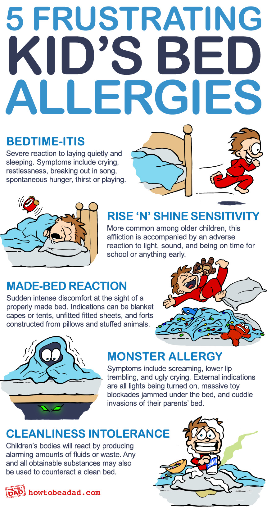 5 Funny Frustrating Kids Bed Allergies