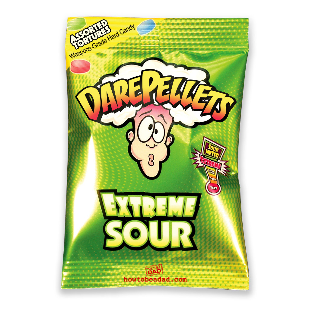 Dare Pellets Funny Warheads Candy Parody