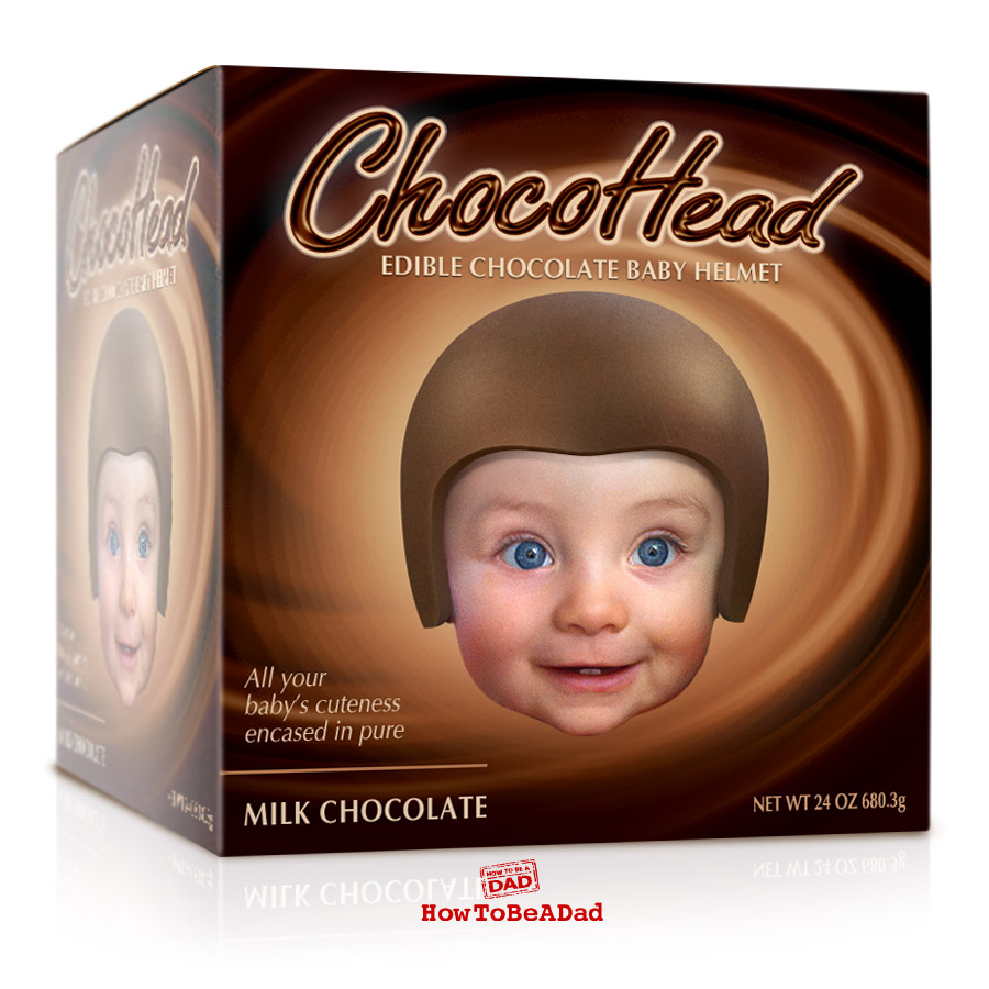 Chocohead Edible Baby Helmet funny bad baby product