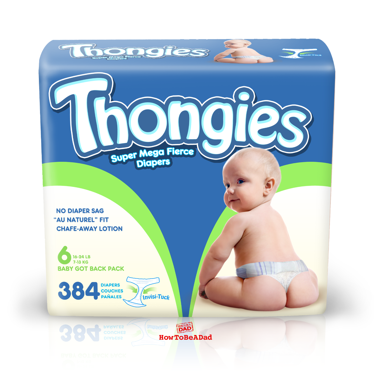 Thongies Diaper Thongs funny bad baby product
