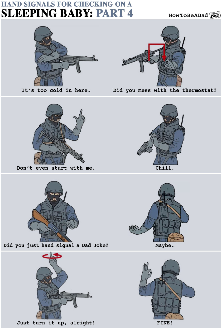Howtobeadad Com Military Hand Signals For Checking On A