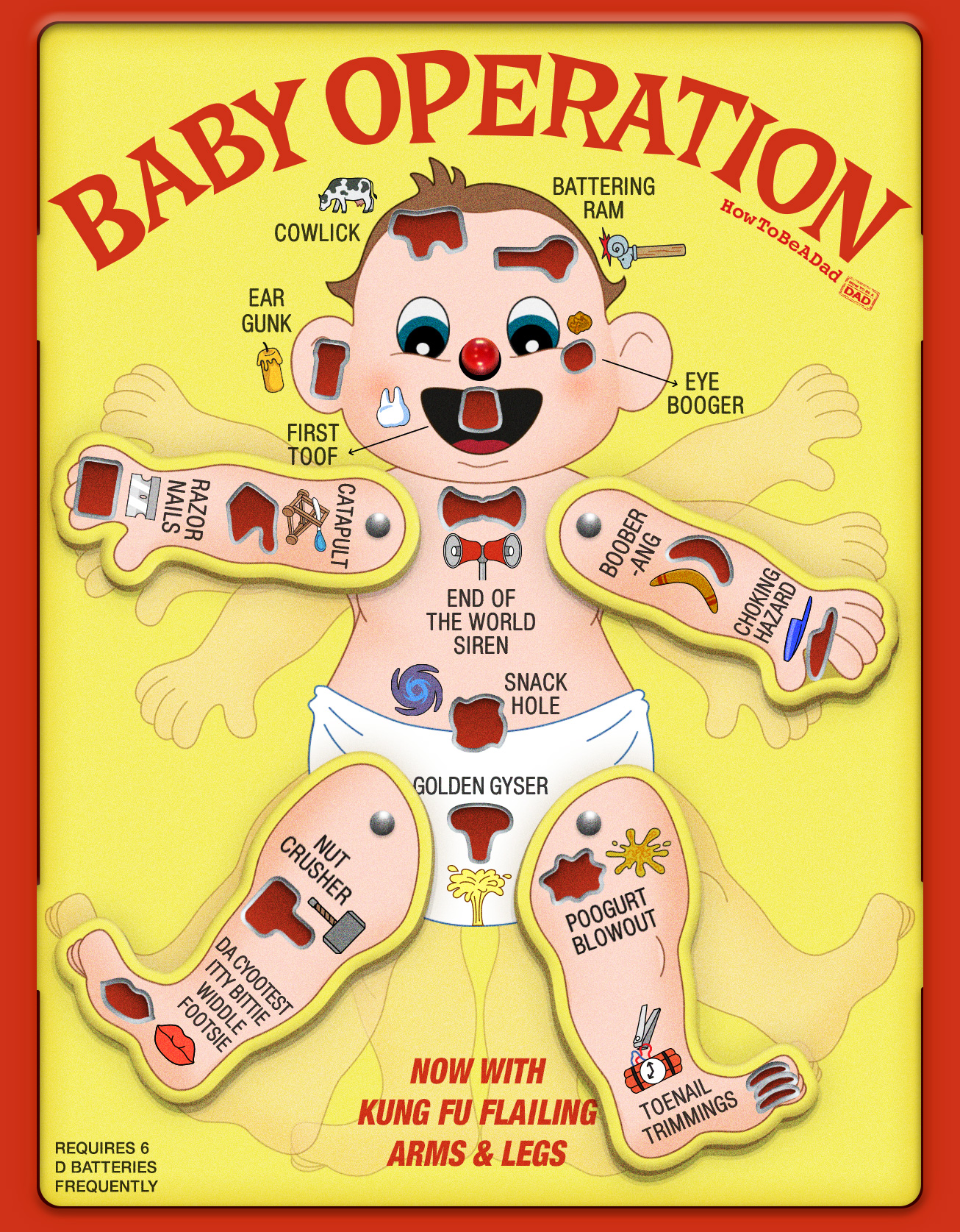 Baby Operation board game funny parody