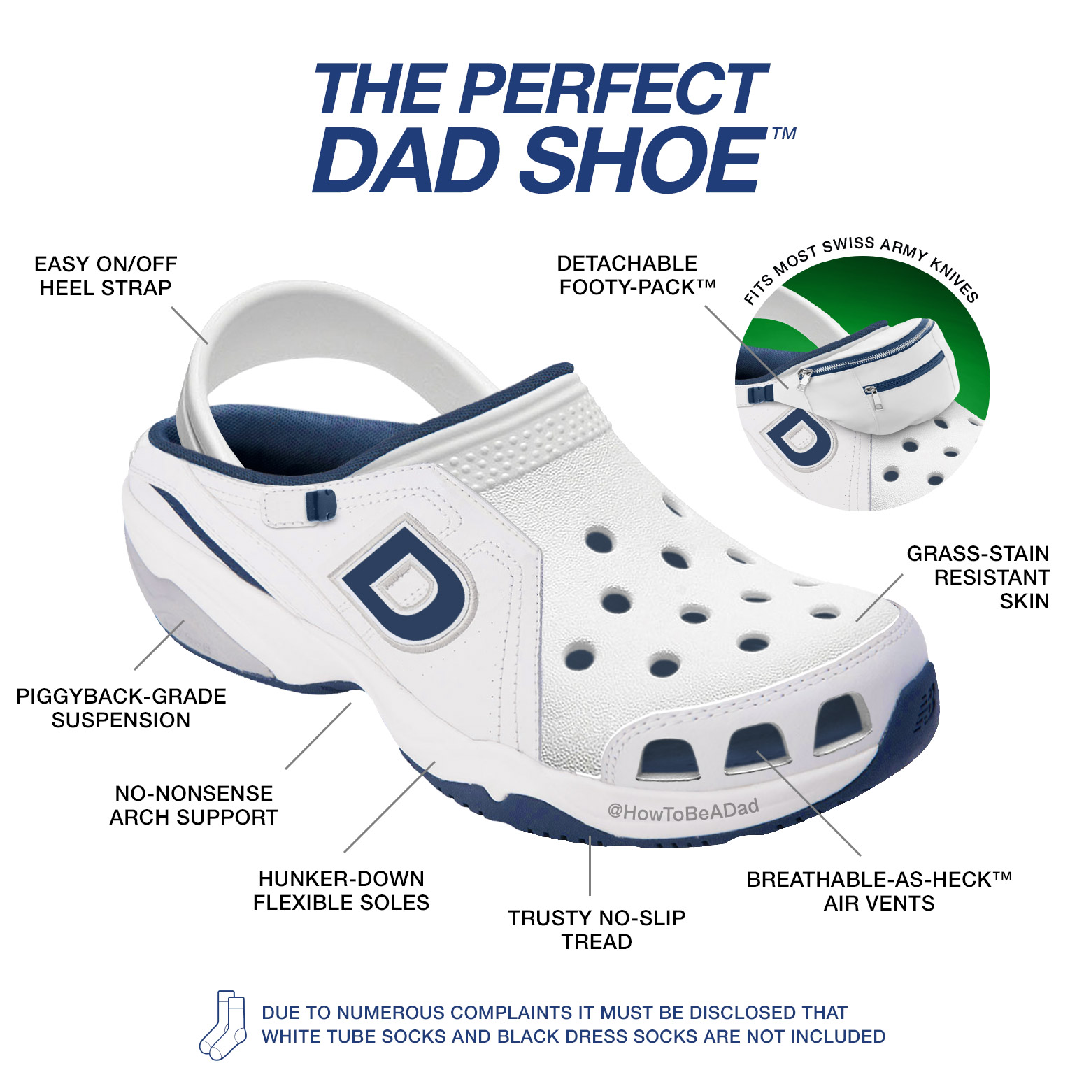The Perfect Dad Shoe New Balance Crocs Fanny Pack