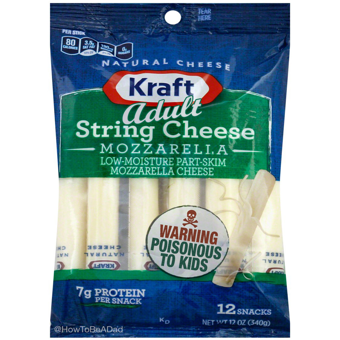 Adult String Cheese Poisonous to Kids