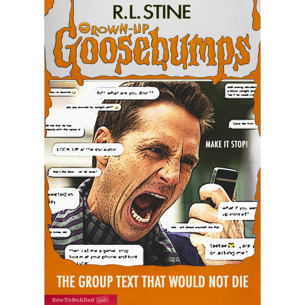 Grown-up R.L. Stine Goosebumps books funny parody group text