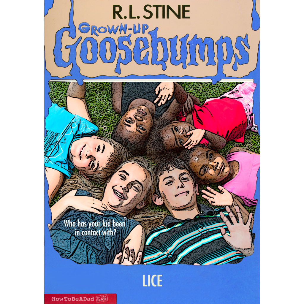Grown-up R.L. Stine Goosebumps books funny parody head lice scare