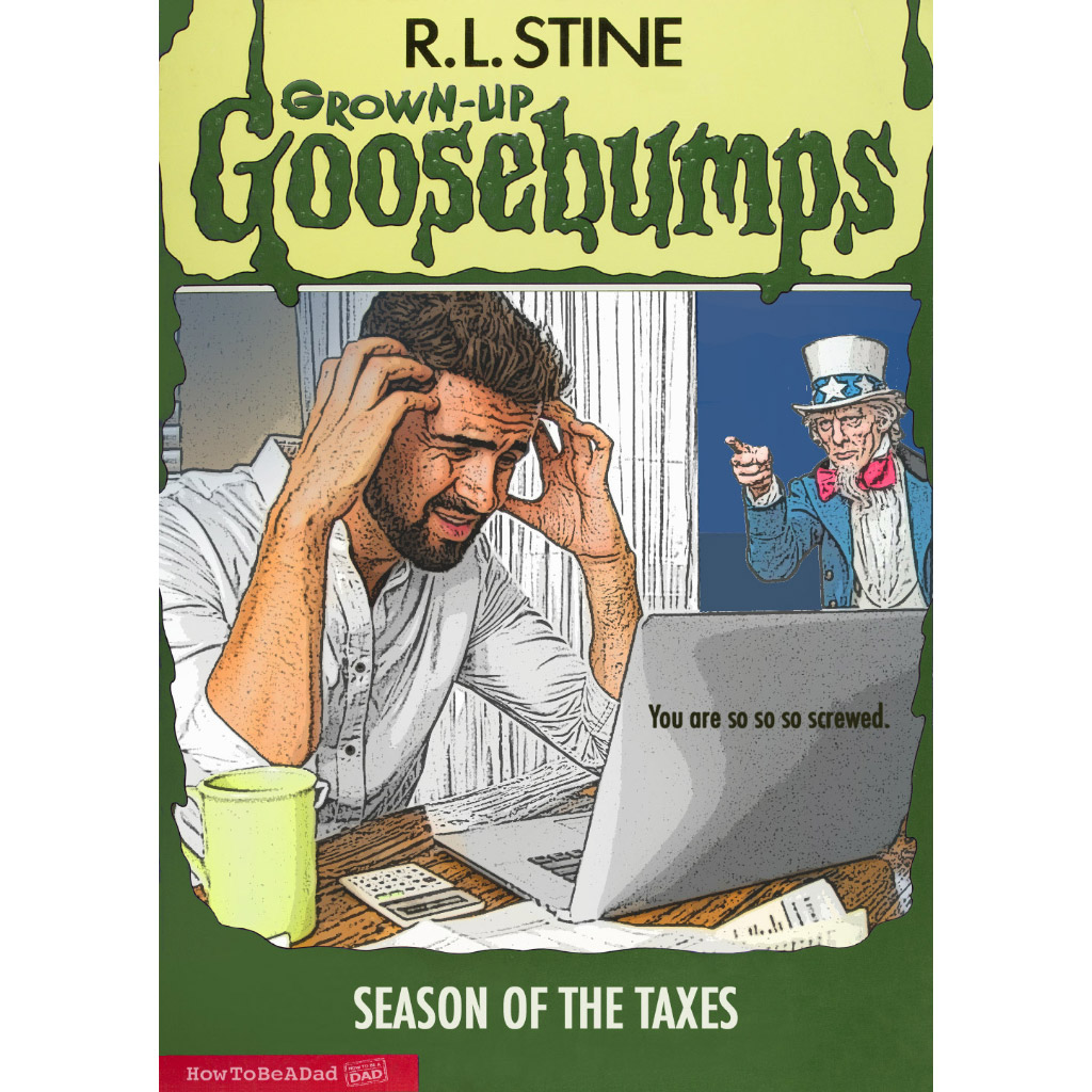 Grown-up R.L. Stine Goosebumps books funny parody season taxes