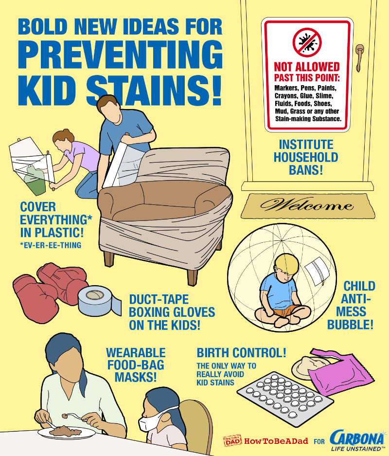 Bold New Ideas for Preventing Kid Stains
