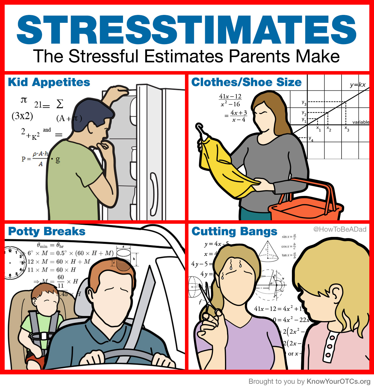 Stresstimates the funny stressful estimates parents make