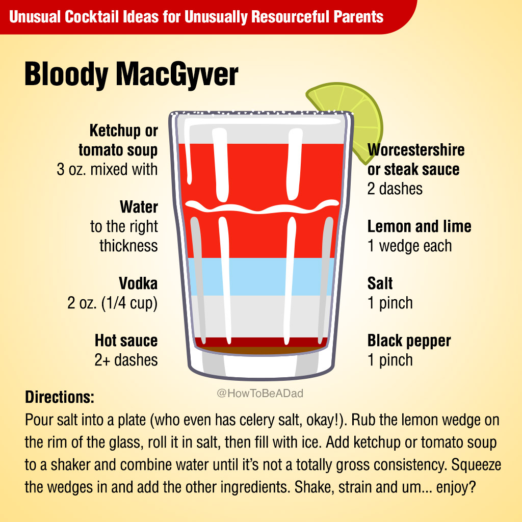 Bloody MacGyver Unusual Cocktail Recipe