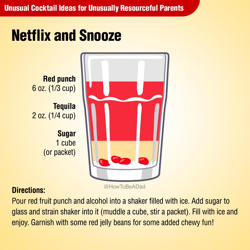 Netflix and Snooze Unusual Cocktail Recipe